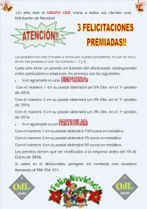 POSTALES TEXTO PREMIOS 2016